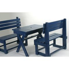 It would be fun to make this outdoor kids table and bench set!