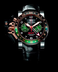 Graham, Chronofighter Oversize GMT RBG #Watch