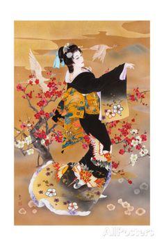 Tsuru Kame (Variant 1) Prints by Haruyo Morita at AllPosters.com