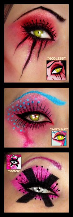 Comic Book inspiration. Very cool #Halloween #Makeup