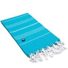 Lucky Turkish Fouta Towel in Turquoise
