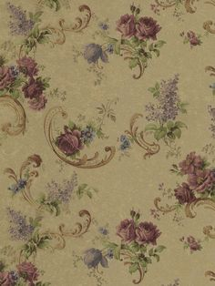Interior Place - Red Violet Lacey Floral Wallpaper, $25.89 (http://www.interiorplace.com/red-violet-lacey-floral-wallpaper/)