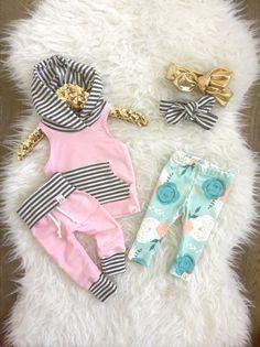 Soft pink sweatpants mint stripe sweats organic by ShopLuluandRoo