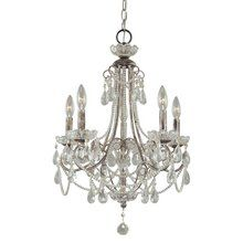 "View the Minka Lavery 3134 5 Light 25.5"" Height 1 Tier Candle Style Crystal Chandelier at LightingDirect.com."