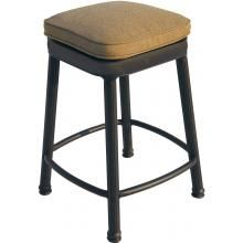 Darlee Cast Aluminum Patio Square Backless Counter Height Bar Stool - Antique Bronze : BBQ Guys