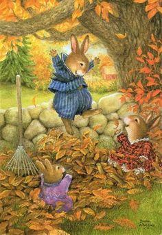 Holly Pond Hill Vintage Autumn Thanksgiving Greeting Card Susan Wheeler