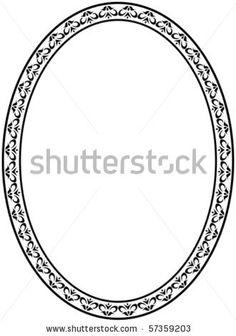 Stock Vector Oval Frame On White Background
