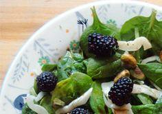 Spinach Blackberry Pistachio Salad