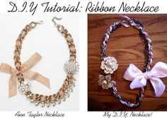 DIY Ribbon necklace