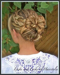 Locks and Locks of Hairstyles: Wet to Set -- Flower Bud Bun so easy!