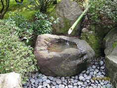 Japanese style water basin