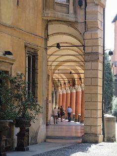 Pórticos en Bologna.