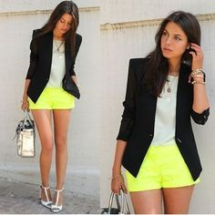 classic chic with a pop of neon
