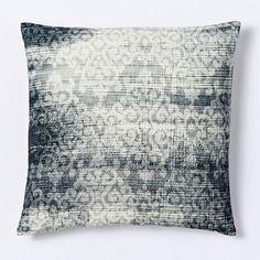 Velvet Scroll Pillow Cover - Slate   west elm :: $39