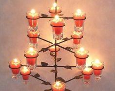 Pinheiro Natal com 16 Velinhas Vermelhas