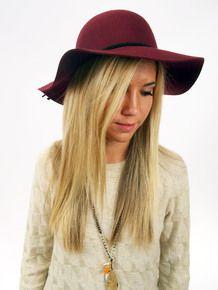 Floppy Hat in Maroon