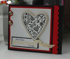 I love this stamp! So pretty in black and white