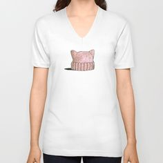 Women Power! by amylynn.  American Apparel Fine Jersey V-Necks are made with 100% fine jersey cotton combed for softness and comfort.