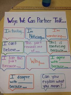 I like where this is going...I'd like to add thick and thin questions for Partner Talk