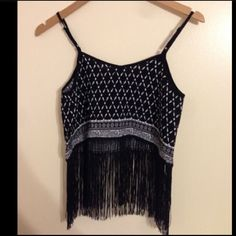 H&M Coachella fringe crop top Reposh! Loves this shirt but it's too small on me! I'm a S fits like XS . But hopefully one of you will get to enjoy it! Happy Poshing! H&M Tops Crop Tops