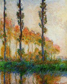 The Three Trees, Autumn - Claude Monet