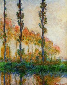 The Three Trees, Autumn - Claude Monet