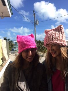 "Women's march on Washington Jan. 21 Make a hat, a ""pussyhat"" for a marcher."