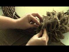 How to Make a Burlap Wreath {Video Tutorial}   Vintage News Junkie