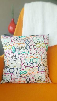 Vintage Eyeglasses Pillow! Love it! Visit us @ www.eyecarefortcollins.com or like us on FaceBook!