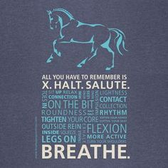 Short Sleeve Breathe Dressage Typographic Horse by BlueBayDesigns
