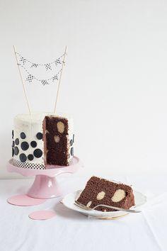 Polka Dot Chocolate Layer Cake
