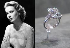 Grace Kelly - 4 000 000 $ Expensive Engagement Rings, Celebrity Engagement Rings, Designer Engagement Rings, Grace Kelly Wedding, Princess Grace Kelly, Grace Kelly Engagement Ring, Engagement Celebration, Celebrity Jewelry, Royal Jewels