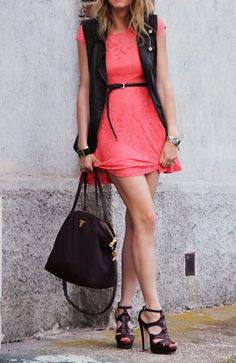 Brights + leather.