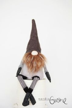 HAAKON - Nordic Gnome, Scandinavian House Gnome, Tomten, Elf, Handmade by Nordic…