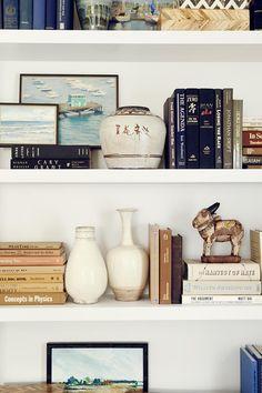 Burnham Design, bookshelf styling