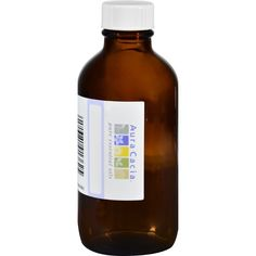 Aura Cacia Glass Amber Bottle with Label