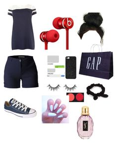 """GAP"" by zendaya090 ❤ liked on Polyvore featuring LE3NO, Samya, Beats by Dr. Dre, BaubleBar, NLY Accessories and Converse"