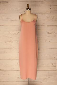 Movera Rose Dusty Pink Straight Cut Slip Dress | La Petite Garçonne