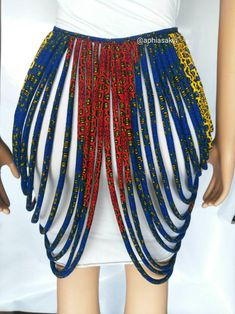 Body jewelry, rope necklace, African accessories, ankara necklace , rope jewelry – yes African Inspired Fashion, Latest African Fashion Dresses, African Print Dresses, African Print Fashion, African Wear, African Attire, African Dress, African Prints, Ankara Fashion
