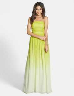 ERIN by Erin Fetherston Isabelle' Ombr? Chiffon Gown