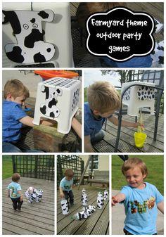 Adventures of Adam farmyard theme outdoor party games