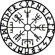 Vegvisir Nordic Abstract Metal Wall by Cre8iveMetalDesigns on Etsy