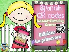 Create an instant listening center using QR codes linked to Spanish read alouds (through Safeshare). Develop listening comprehension with the 18 comprehension questions included (all levels of Bloom's Taxonomy included). Teacher instructions are included, with three different print options.  6 Books included in this version:El viejo rbol by Denisse Itzel Torres BeltrnChoco encuentra una mam by Keiko KaszaEl rbol generoso by Shel SilversteinEl coleccionista de semillas by Aid Carolina…