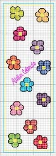 Book mark cross stitch flower daisy
