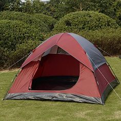 awesome Super buy Waterproof Camp Quick Tent 2-3 Person/Man 1 Room Outdoor Camping Hiking Wine
