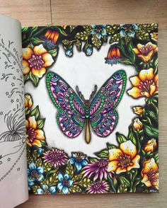 Done! Hooray!! Butterfly from Sommarnatt by  @hannakarlzon #lostoceancolors…