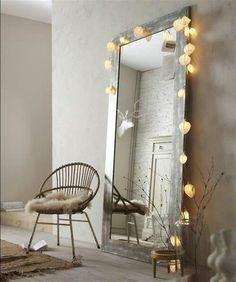 rustikaler Stil Holzrahmen für den Spiegel