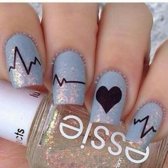 """""""But, you're my person"""" -greys anatomy Is all that's missing from these nails❤"""