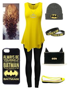 """BATMAN!!!!!"" by cheeselover13 ❤ liked on Polyvore featuring 2LUV, Doublju and Penny Loves Kenny"