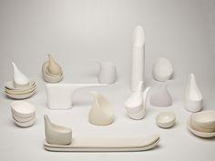 Ceramics : Objects of Empathy by Miya Kondo Ceramic Tableware, Glass Ceramic, Ceramic Clay, Porcelain Ceramics, Ceramic Pottery, White Ceramics, Small Room Decor, Ceramic Design, Decorative Objects